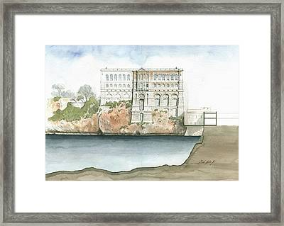 Monaco Oceanographic Museum Framed Print by Juan Bosco