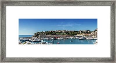 Monaco Port Hercule - Panoramic Framed Print