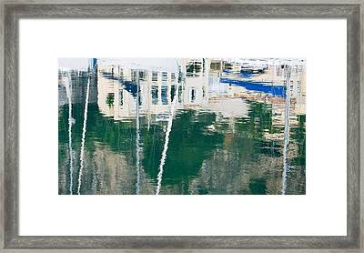 Framed Print featuring the photograph Monaco Reflection by Keith Armstrong