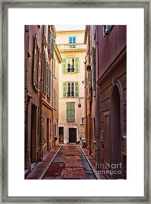 Monaco Street Framed Print by Tom Prendergast