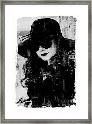 Monaco Woman Framed Print