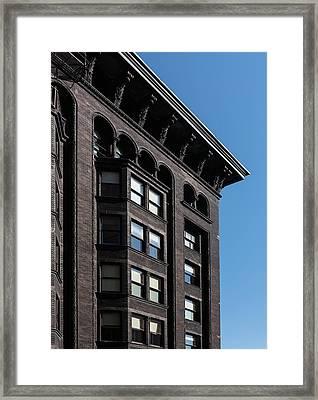 Monadnock Building Cornice Chicago B W Framed Print
