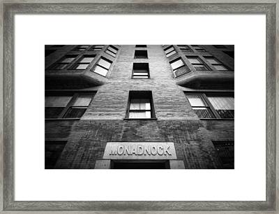 Monadnock Building Framed Print by Mike Burgquist
