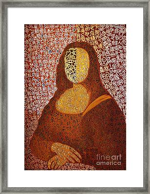 Monalisa Framed Print by Fei A