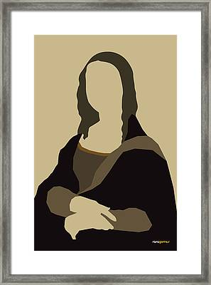 Monalisa Framed Print by Rafael Gomes