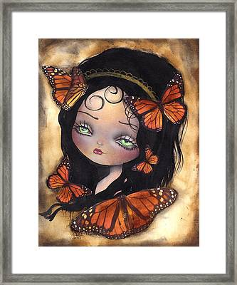 Monarca Framed Print by  Abril Andrade Griffith