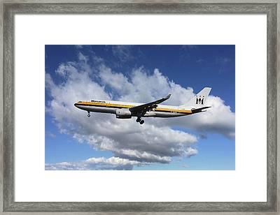Monarch Airlines Airbus A330-243 Framed Print