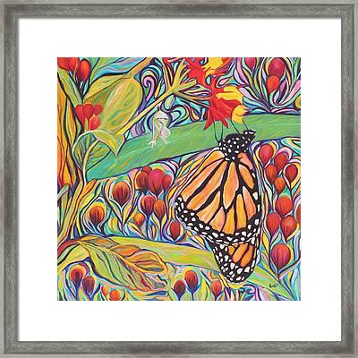 Monarch Birthday Party Framed Print by Eve  Wheeler