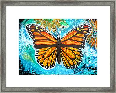 Monarch Butterfly Framed Print by Genevieve Esson