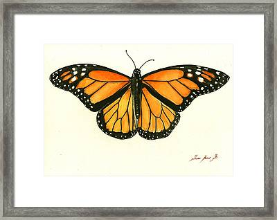 Monarch Butterfly Framed Print by Juan Bosco