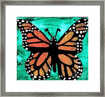 Monarch Cutout Framed Print by Genevieve Esson