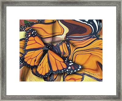 Monarch Flight Framed Print