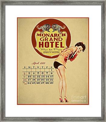 Monarch Grand Hotel Framed Print by Cinema Photography