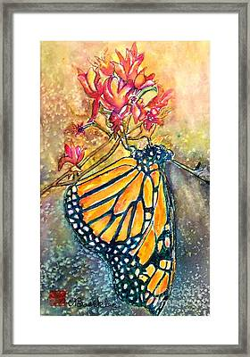 Monarch In The Morning Framed Print by Norma Boeckler