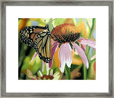 Monarch Framed Print by Kenneth Young