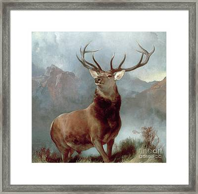 Monarch Of The Glen Framed Print by Sir Edwin Landseer