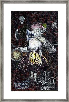 Framed Print featuring the mixed media Monarch Steampunk Goddess by Genevieve Esson