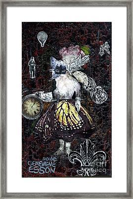 Monarch Steampunk Goddess Framed Print by Genevieve Esson