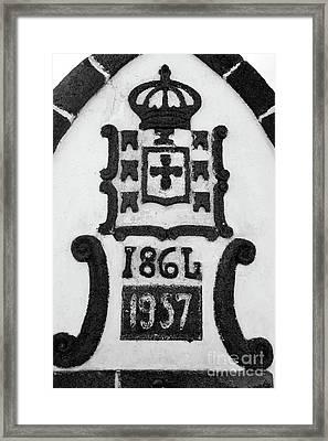 Monarchy Symbols Framed Print by Gaspar Avila