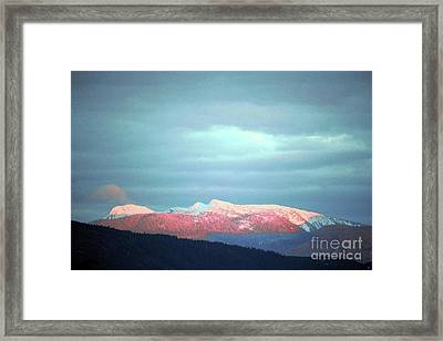 Monashee Sunset Framed Print
