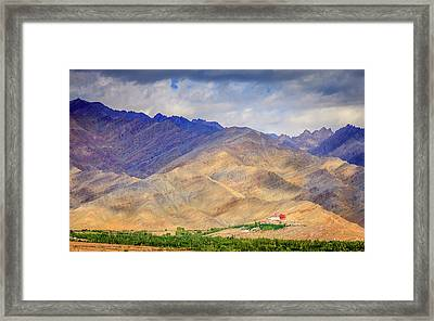 Framed Print featuring the photograph Monastery In The Mountains by Alexey Stiop
