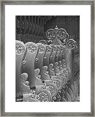 Monastery Pews Framed Print