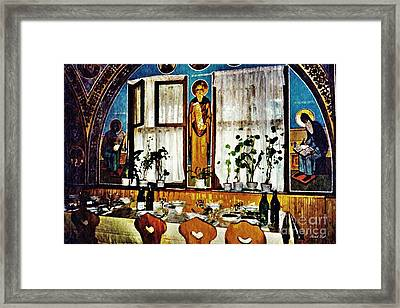 Monastic Refectory Framed Print by Sarah Loft