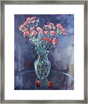 Monda's Bouqet For Viola Framed Print by Ylli Haruni