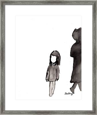 Monday Girl Framed Print