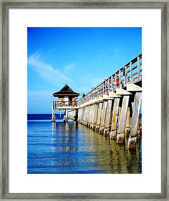 Monday Morning At Naples Pier Framed Print
