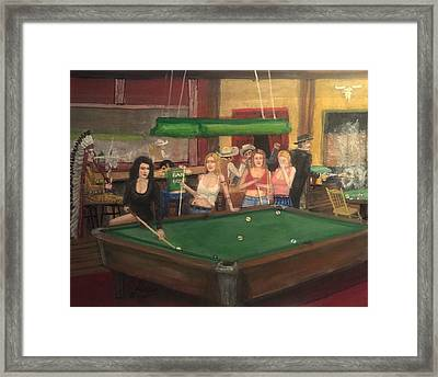 Monday Night In Oklahoma  Framed Print by Larry E Lamb