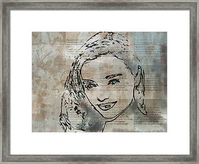 Monday's Child Framed Print by Andre Pillay