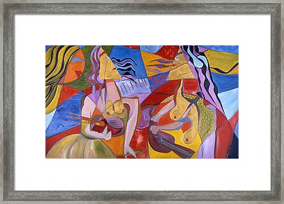 Framed Print featuring the painting Mondolyn Player by Sima Amid Wewetzer