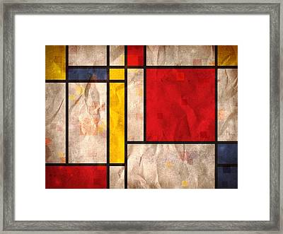 Mondrian Inspired Framed Print by Michael Tompsett
