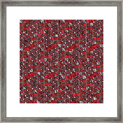 Mondrian Mosaic Framed Print