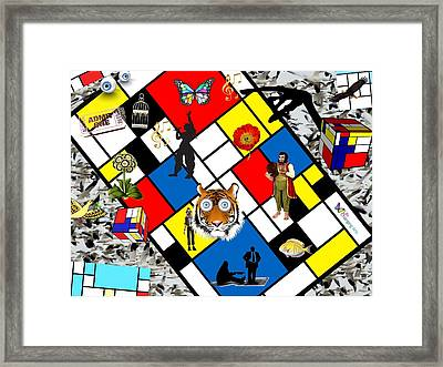 Mondrian Nightmare Framed Print
