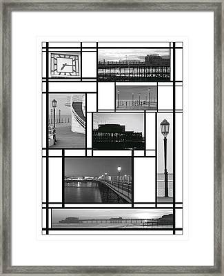 Mondrian Pier Framed Print by Hazy Apple