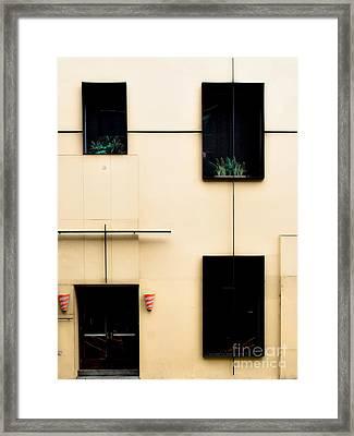 Mondrianic Fascade Framed Print by James Aiken