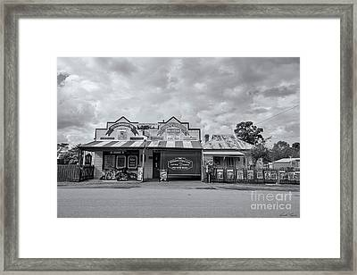 Framed Print featuring the photograph Monegeetta General Store by Linda Lees
