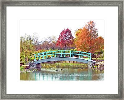Monet Bridge Framed Print