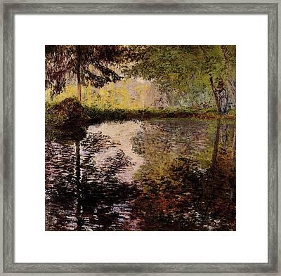 Monet Claude Pond At Montgeron Framed Print