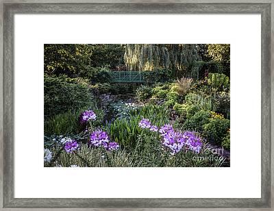 Monet Garden Framed Print