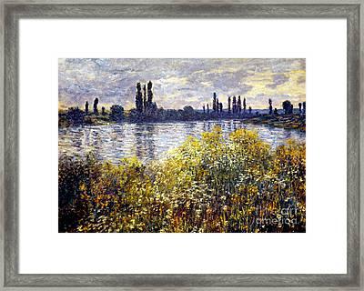 Monet: Seine/vetheil, 1880 Framed Print by Granger