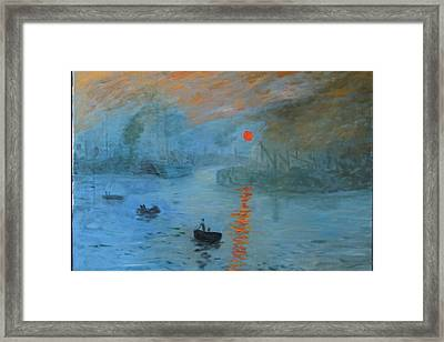 Monet Sunrise By Dg Framed Print
