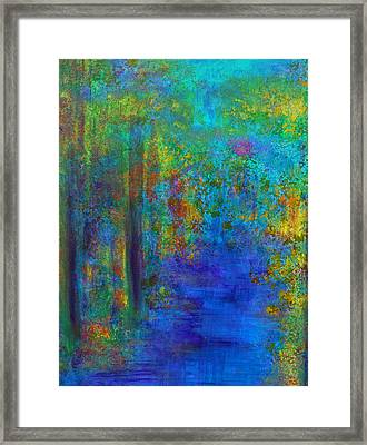 Monet Woods Framed Print