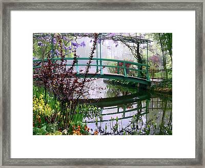 Monet's Bridge Framed Print by Jim Hill