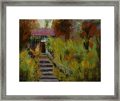 Monet's Garden Cottage Framed Print by Colleen Murphy