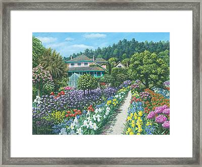 Monet's Garden Giverny Framed Print by Richard Harpum