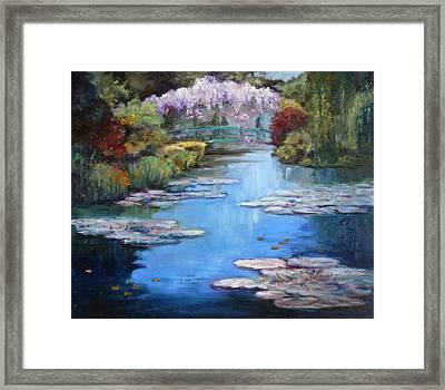 Monet's Garden In Giverny Framed Print