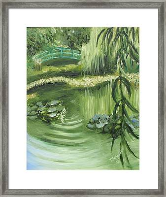 Monet's Garden Framed Print